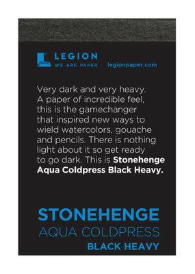 Legion Paper Mini Paper Pad Stonehenge Aqua Coldpress Black Heavy
