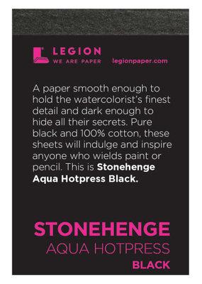 Legion Paper Mini Paper Pad Stonehenge Aqua Hotpress Black