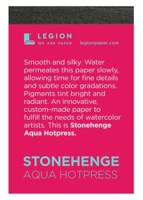 Legion Paper Mini Paper Pad Stonehenge Aqua Hotpress