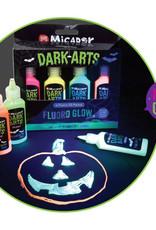 Micador Dark Arts Neon Fluoro Glow 3D 4 Color Paint Set