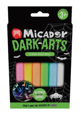 Micador Dark Arts Glow Paint Pens 6 Color Set