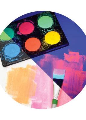 Micador Dark Arts Neon Glow Washable Paint Discs 6 Color Set