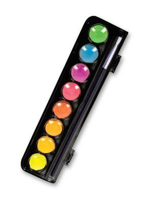 Micador Dark Arts Neon Glow Watercolor Paint 8 Color Set