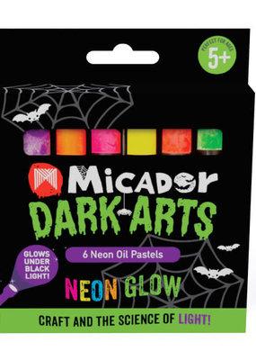 Micador Dark Arts Neon Glow Oil Pastels 6 Color Set