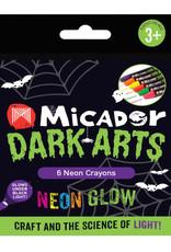 Micador Dark Arts Neon Glow Crayons 6 Color Set