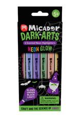 Micador Dark Arts Neon Glow Scented Highlighters 6 Color Set