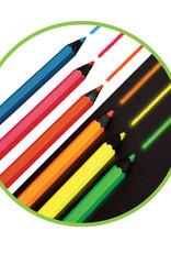 Micador Dark Arts Neon Glow Jumbo Pencils 6 Color Set