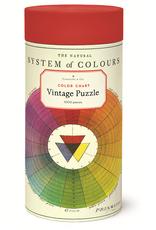 Cavallini 1000 Piece Jigsaw Puzzle Color Chart