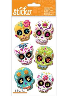 Sticko Stickers Dimensional Sugar Skulls