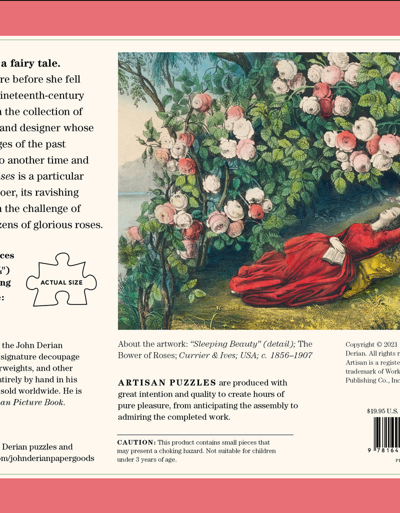 John Derian Paper Goods 1000 Piece Puzzle John Derian The Bower of Roses