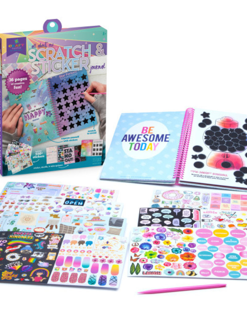 Ann Williams Craft-tastic Scratch & Sticker Journal Kit