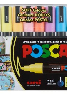 POSCA Posca Paint Marker PC-5M 8 Color Set Soft Colors