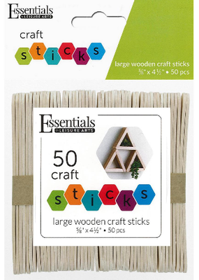 Leisure Arts Wood Craft Sticks Large  50pc