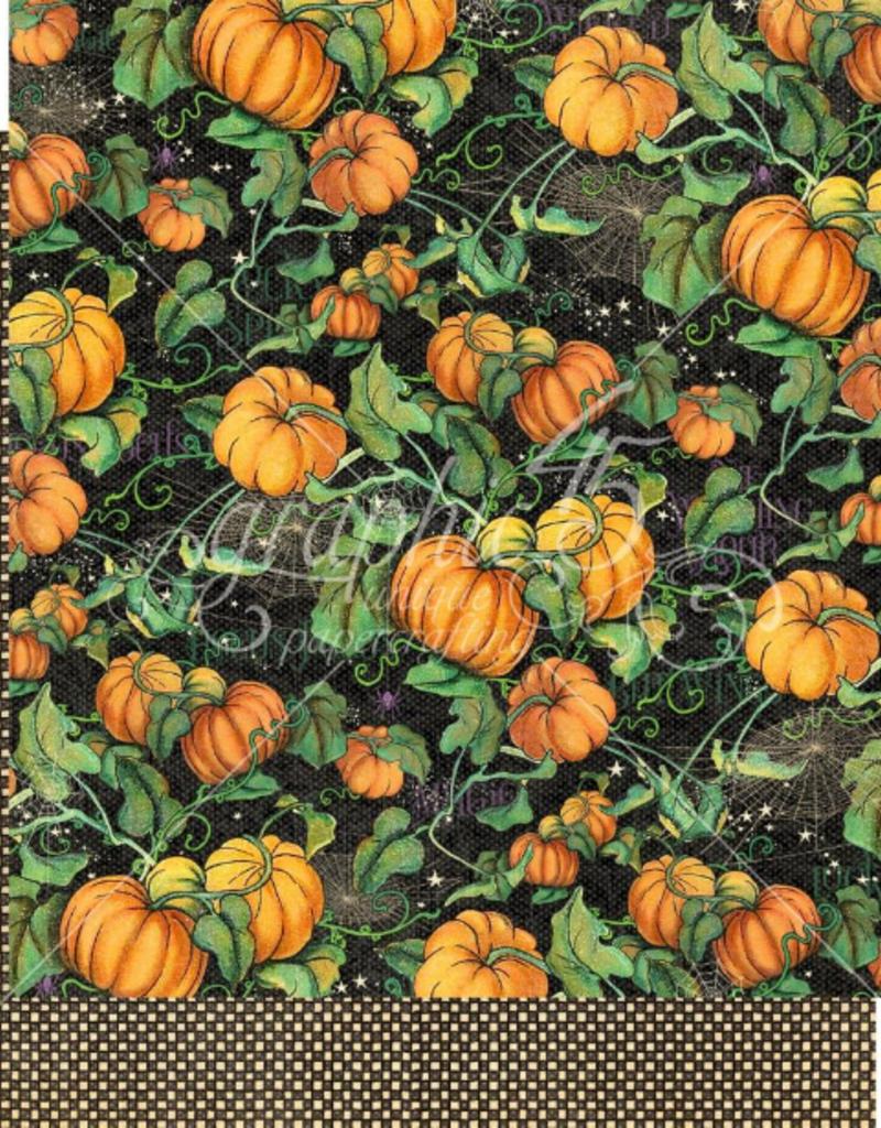 12 x 12 Decorative Paper  Pumpkin Patch