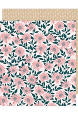 American Crafts 12 x 12 Decorative Paper Bungalow Lane #7