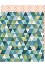 American Crafts 12 x 12 Decorative Paper Bungalow Lane #3