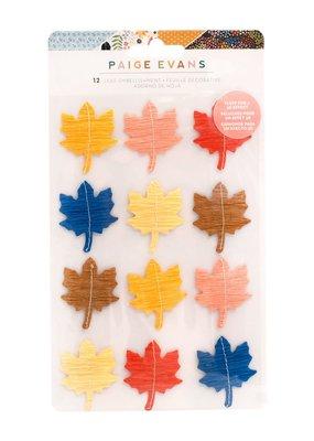 American Crafts Stickers Bungalow Lane Leaf Embellishment