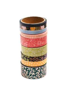 American Crafts Washi Tape Bungalow Lane Copper Foil 8 Rolls