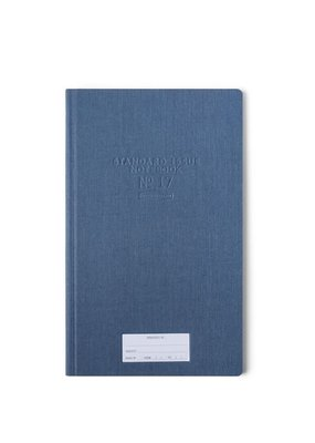 Designworks Ink Standard Issue Tall Notebook Blue
