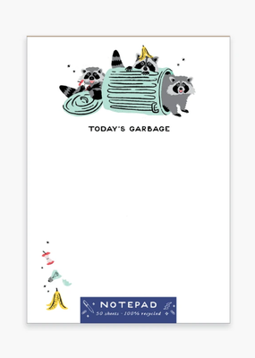Party of One Notepad Garbage Raccoons