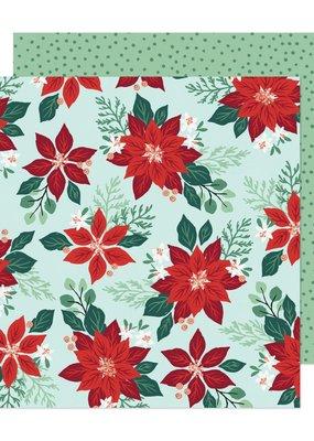 American Crafts 12 x 12 Decorative Paper Pretty Poinsetta