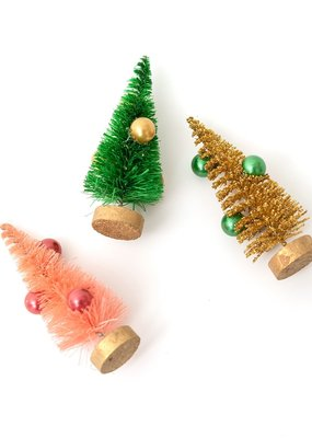 American Crafts Set of 6 Bottle Brush Trees