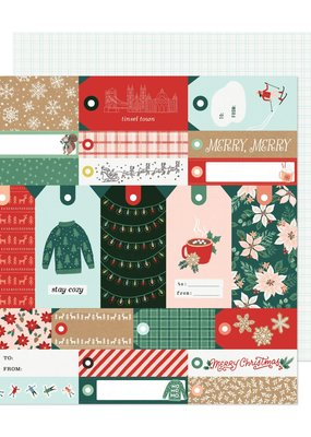 American Crafts 12 x 12 Decorative Paper Merry Merry