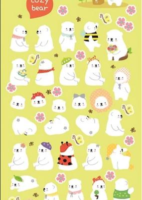 Sticker Cozy Bear