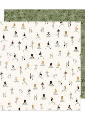 American Crafts 12 x 12 Decorative Paper Inhale Exhale