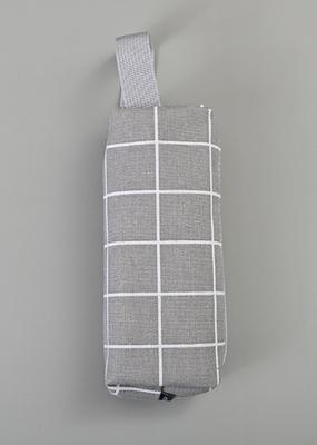 collage Pencil Case Grey With White Stripe