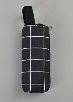 collage Pencil Case Black With White Stripe