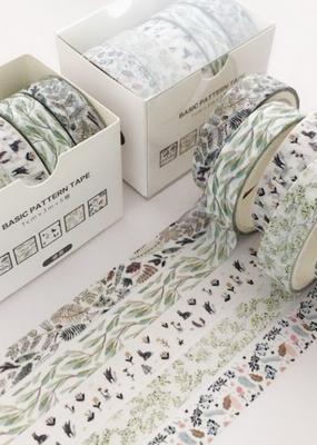 collage Thin Washi Set Leaves