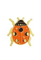 collage Enamel Pin Moon Phase Ladybug