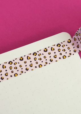 Nutmeg and Arlo Washi Pastel Leopard