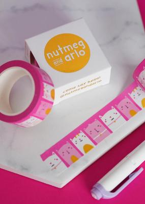 Nutmeg and Arlo Washi Happy Cats