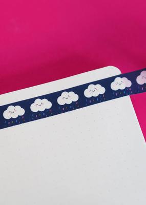 Nutmeg and Arlo Washi Rainy Clouds