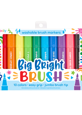 Ooly Big Bright Brush Markers Set of 10