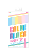 Ooly Color Block Highlighters Set of 6