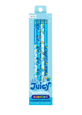 Ooly Lil' Juicy Blueberry Scented Graphite 6 Pencil Set