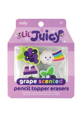 Ooly Lil' Juicy Grape Pencil Topper Eraser Set