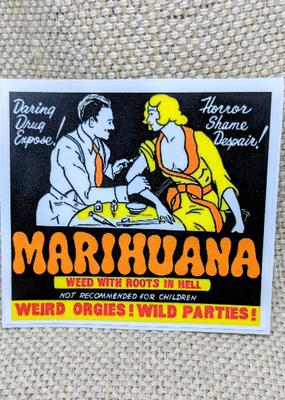 Iamsonotcool Sticker Marijuana Propaganda 2