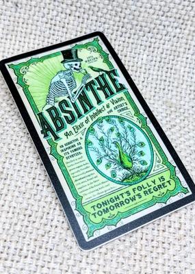 Iamsonotcool Sticker Absinthe Skeleton