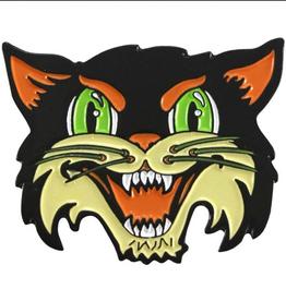 BxE Buttons X StaciaMade Enamel Pin  Halloween Cat