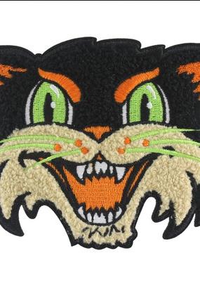 BxE Buttons X StaciaMade Patch Halloween Cat