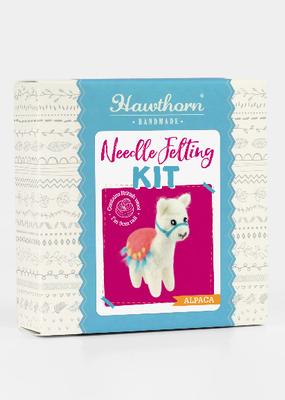 Hawthorn Handmade Needle Felting Kit Alpaca Mini