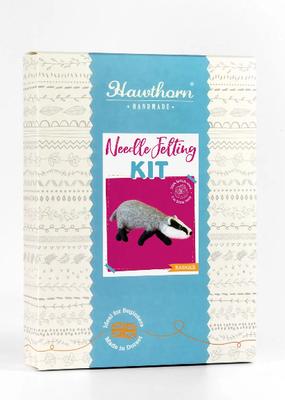 Hawthorn Handmade Needle Felting Kit Badger