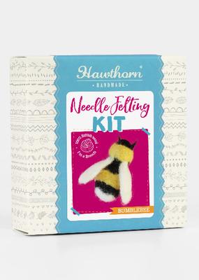 Hawthorn Handmade Needle Felting Kit Bee Brooch