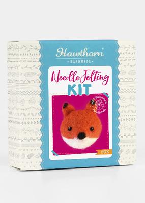 Hawthorn Handmade Needle Felting Kit Fox Brooch