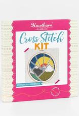Hawthorn Handmade Cross Stitch Kit Mountain Adventure