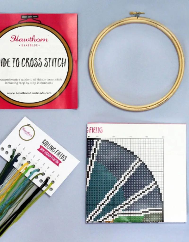 Hawthorn Handmade Cross Stitch Kit Rolling Fields